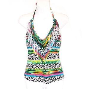 3/$25 Jessica Simpson Multicolor Tankini Top